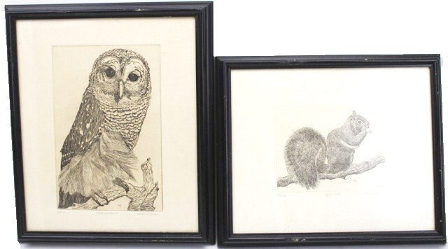 DELL WELLER - LITHOGRAPHIC PRINTS OF BIRDS