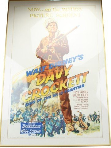 WALT DISNEY'S 1955 DAVY CROCKETT MOVIE POSTER