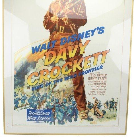 WALT DISNEY'S 1955 DAVY CROCKETT MOVIE POSTER - 3