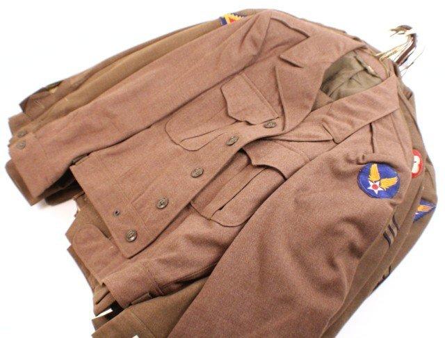 UNIFORM - SELECTION OF 10 WW2 ERA IKE JACKETS