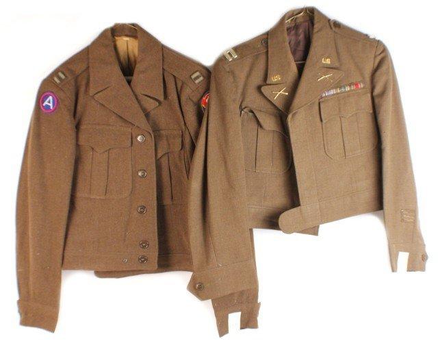 UNIFORM - TWO WW2 ERA OFFICERS IKE JACKETS