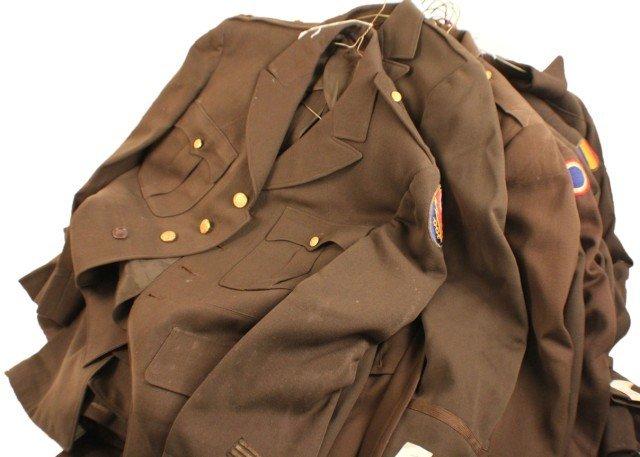 UNIFORM - SELECTION OF 18 WW2 ERA OFFICERS JACKETS