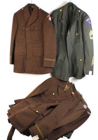 UNIFORM - SELECTION OF 10 WW2 ERA OFFICERS JACKETS