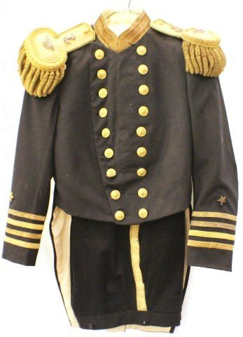 LATE 19TH CENTURY US NAVY CAPTAINS DRESS COATEE