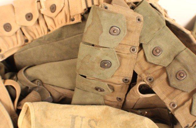 WW2 US ARMY FIELD GEAR INCLUDING AMMO BELTS - 2