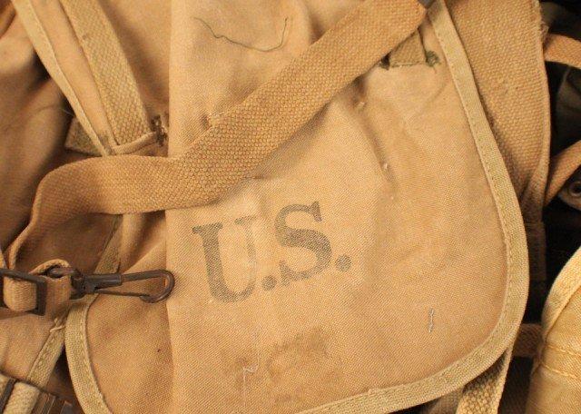 WW2 US ARMY FIELD GEAR INCLUDING AMMO BELTS - 3