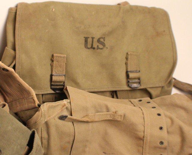 WW2 US ARMY FIELD GEAR INCLUDING AMMO BELTS - 4