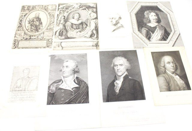 C16TH-19TH ENGRAVINGS OF ROYAL & PROMINENT FIGURES