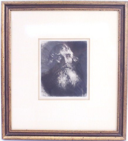 ETCHING - ATTRIBUTED TO REMBRANDT