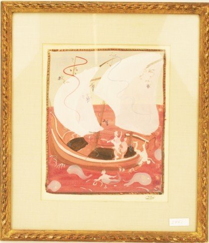 ANDRE DERAIN - NAUTICAL SCENE WATERCOLOR PAINTING