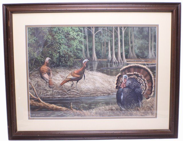 JAMES PARTEE, JR - FRAMED WATERCOLOR