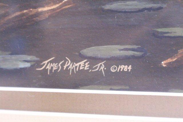 JAMES PARTEE, JR - FRAMED WATERCOLOR - 3