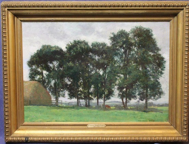 CHARLES WARREN EATON - OIL PAINTING LANDSCAPE