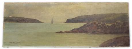 C MYRON CLARK  OIL SEASCAPE EARLY 20TH CENTURY