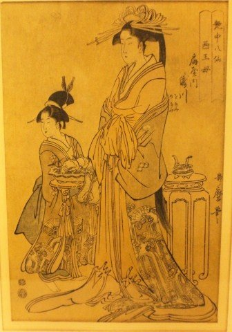 PAIR OF JAPANESE WOODBLOCK PRINTS - 2