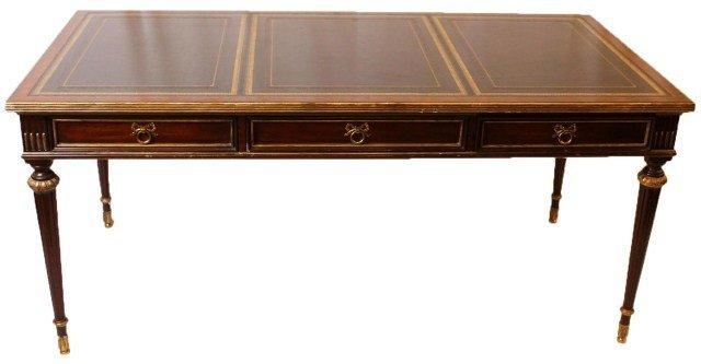 Maitland Smith Mahogany Leather Top Writing Desk