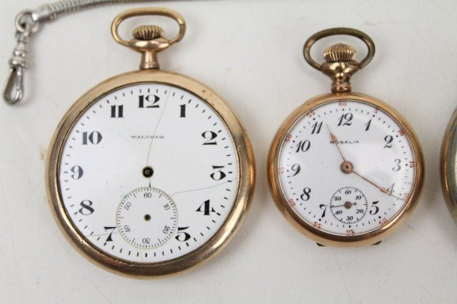 2 pocket watches a wittnauer stopwatch lot 23700