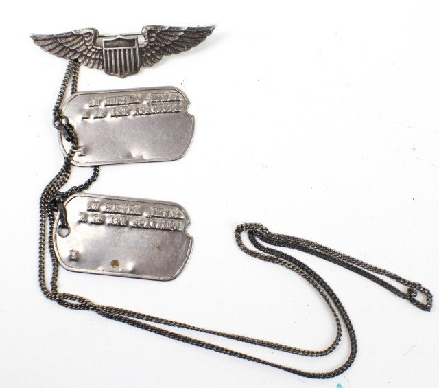 WW2 ARCHIVE STERLING WINGS DOG TAGS AWARD & MORE - 2