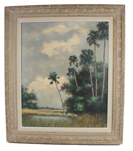 ATTRIBUTED TO A.E. BACKUS - FLORIDA LANDSCAPE PAINTING