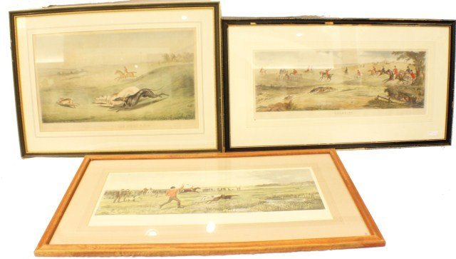 19TH CENTURY HUNT SCENE ENGRAVINGS