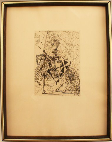 SALVADOR DALI - EL CID ETCHING WITH COA