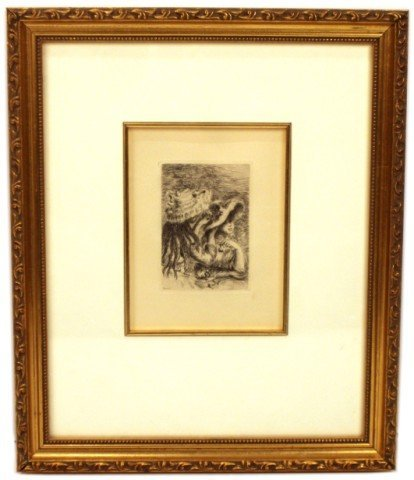 "RENOIR ""LE CHAPEAU EPINGLE"" - FRAMED ETCHING"