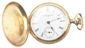 LADIES 14K GOLD HUNTERS CASE ELGIN POCKET WATCH