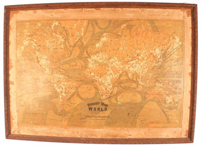 ATLAS SCHOOL SUPPLY RELIEF MAP OF THE WORLD - 2
