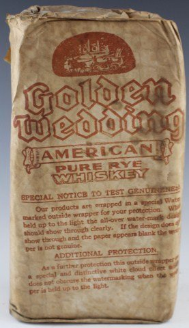 GOLDEN WEDDING PURE RYE WHISKEY IN ORIGINAL PAPER