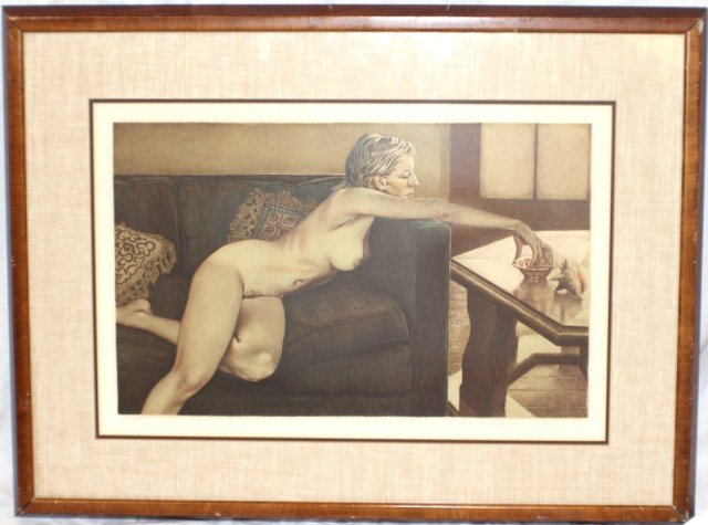 MERV CORNING - SIGNED & NUMBERED NUDE LITHOGRAPH