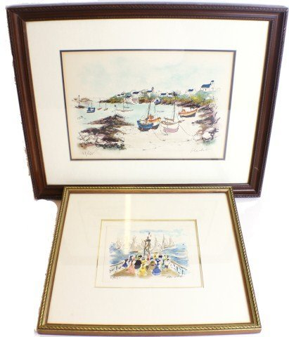 HUCHET - LOT OF TWO SIGNED & NUMBERED LITHOGRAPHS