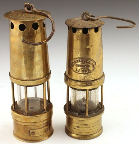 TWO ENGLISH MINERS LAMPS - 2
