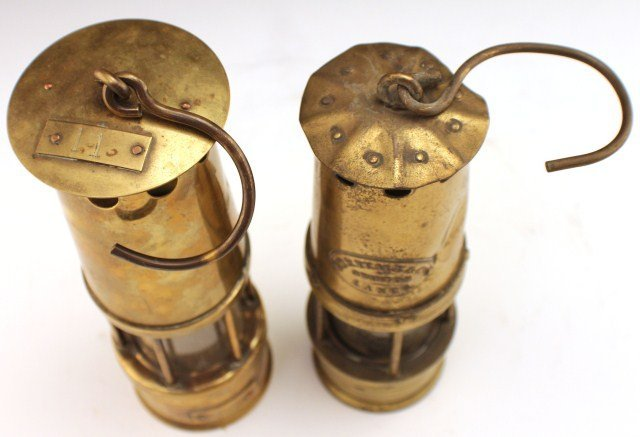 TWO ENGLISH MINERS LAMPS - 4