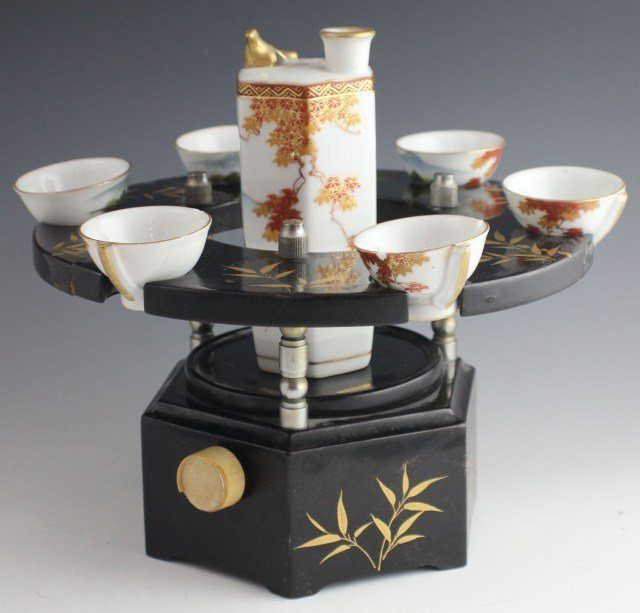 MUSICAL SAKE SET WITH WHISTLING CUPS