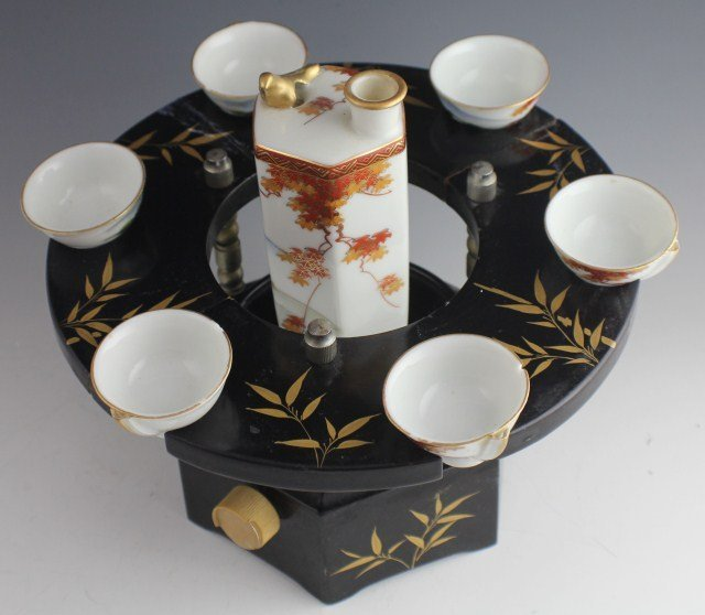 MUSICAL SAKE SET WITH WHISTLING CUPS - 2