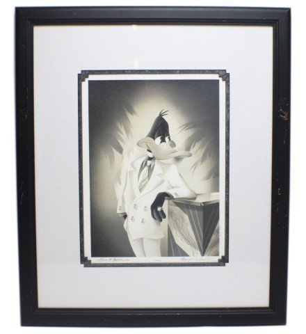 SIGNED PORTRAIT OF DAFFY DUCK