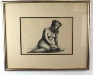 MEDITATION ORIGINAL SIGNED LITHO CLARA KLINGHOFFER