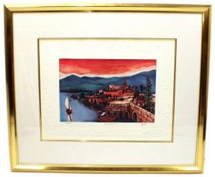 SEA OF GALILEE BY ELGI SIGNED LITHOGRAPH
