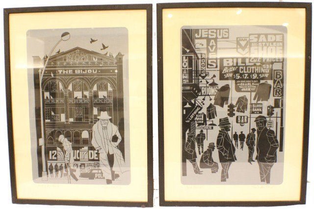 TED MILLER SKID ROW & END OF AN ERA SIGNED LITHOS