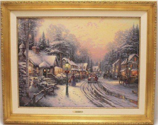Thomas Kinkade Christmas.Thomas Kinkade Christmas Cottage Viii With Coa