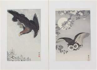 BIRDS IN FLIGHT - JAPANESE WOODBLOCK PRINTS