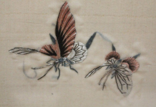 JAPANESE SILK EMBROIDERY BIRDS AND FLOWERS - 4