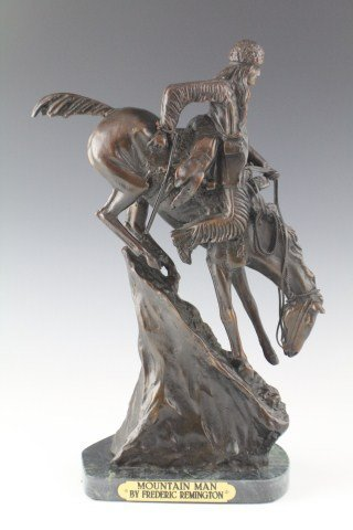 MOUNTAIN MAN - BRONZE STATUE FREDERIC REMINGTON