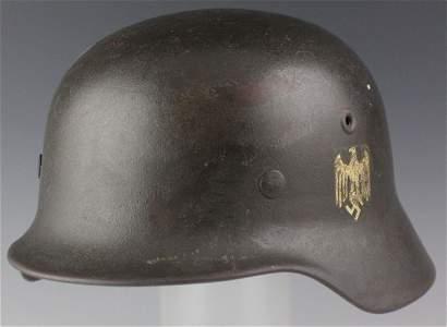 WWII GERMAN M40 HELMET AND LINER