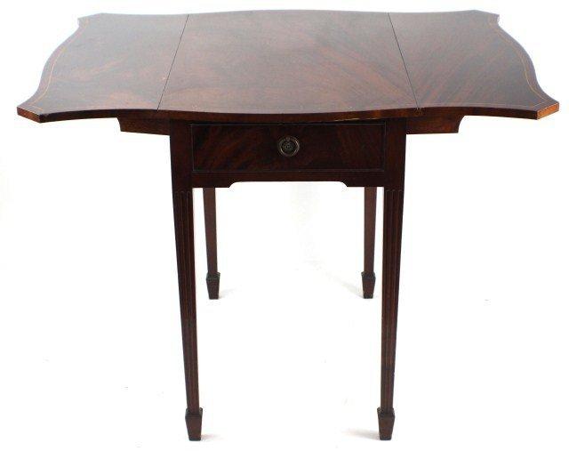 PAIR OF INLAID PEMBROKE TABLES TIBBENHAM IPSWICH - 2