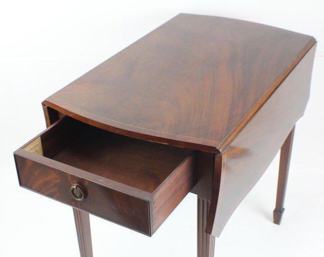 PAIR OF INLAID PEMBROKE TABLES TIBBENHAM IPSWICH - 4