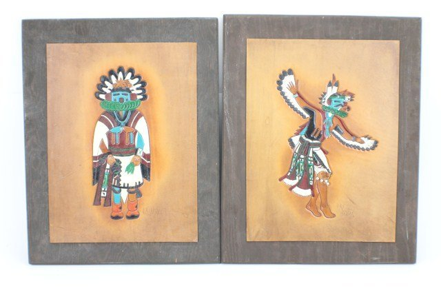 NATIVE AMERICAN LEATHER CRAFT ART BY RAY BRIGGS