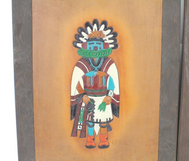 NATIVE AMERICAN LEATHER CRAFT ART BY RAY BRIGGS - 2