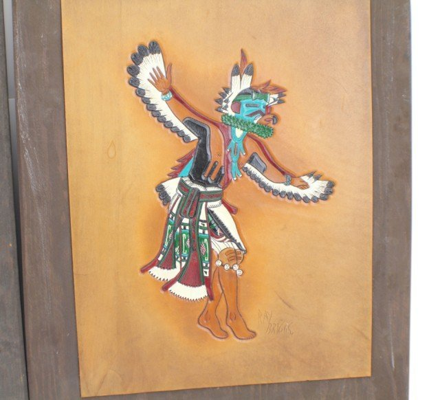 NATIVE AMERICAN LEATHER CRAFT ART BY RAY BRIGGS - 3