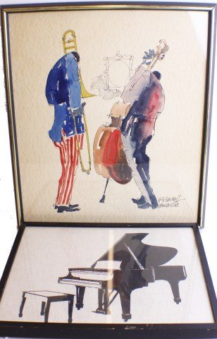 LOT OF TWO FRAMED MUSICAL PRINTS